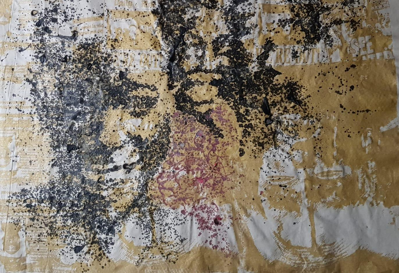 YEANZI    No title, 2017   105 x 140 cm, techniques mixtes sur soie