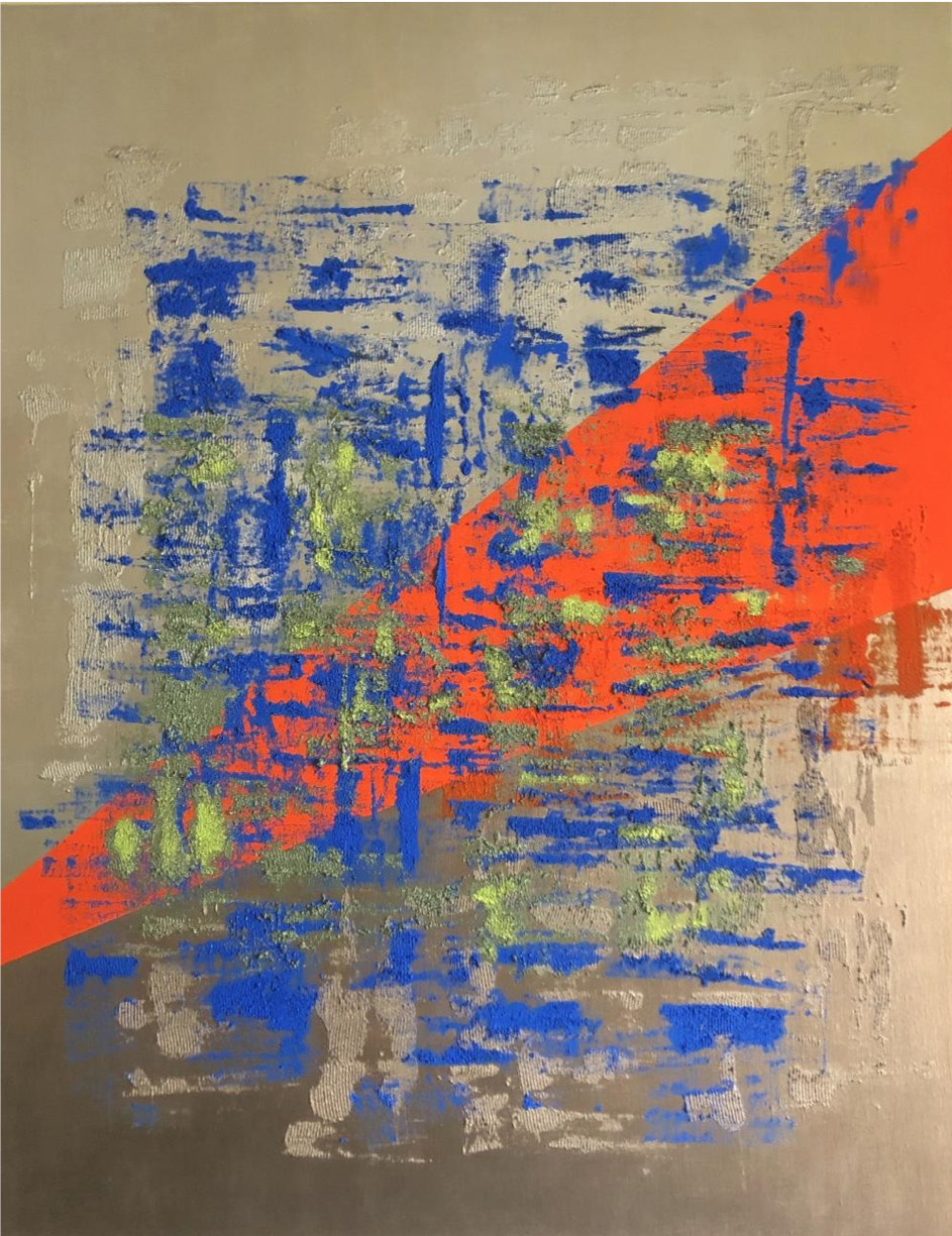 Childhood - Technique mixte, 146x114cm – 2019