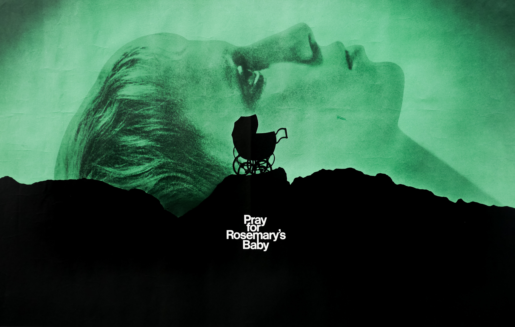 Promotional poster for  Rosemary's Baby  (1968), which draws connections to  Eyes Wide Shut  (1999)
