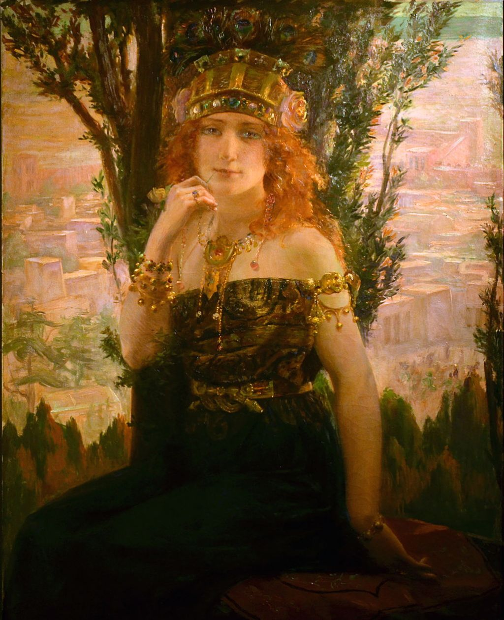 Helen of Troy  (1895) oil painting by Gaston Bussière