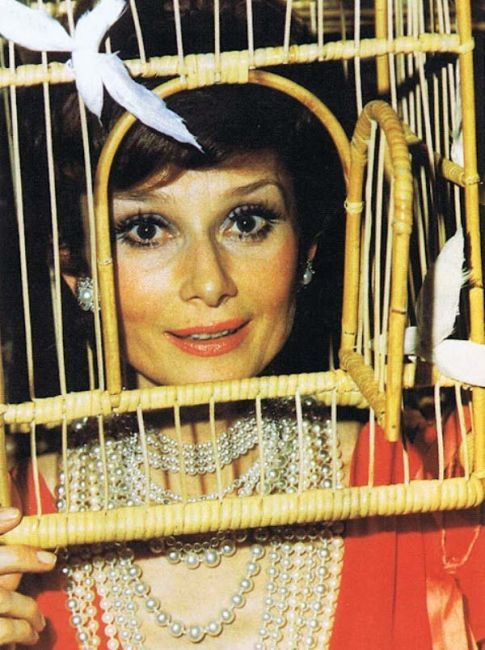 """Movie star Audrey Hepburn was one of many celebrities who attended Marie-Hélène de Rothschild's """"Surrealist Ball"""" (1972)"""