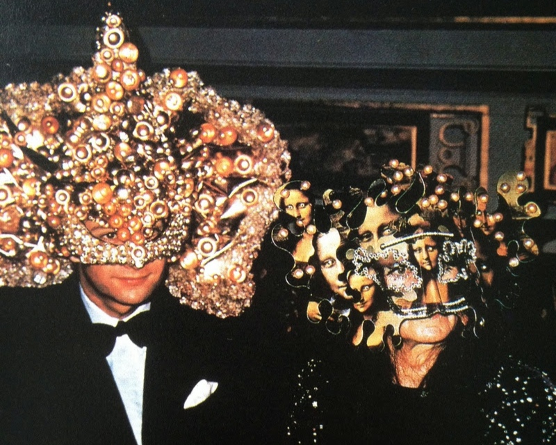 """Masked party guests at the Rothschild's """"Surrealist Ball"""" (1972) -  Images via    therake.com"""