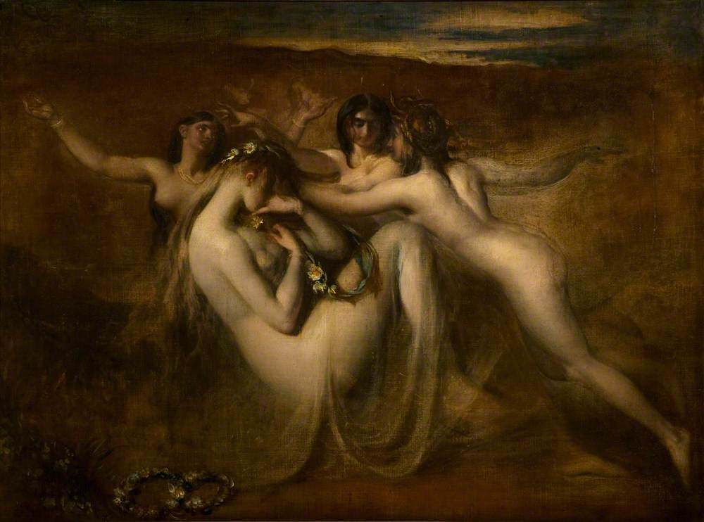 Sabrina and Her Nymphs  (1841) painting by William Etty -  Image via    artuk.org