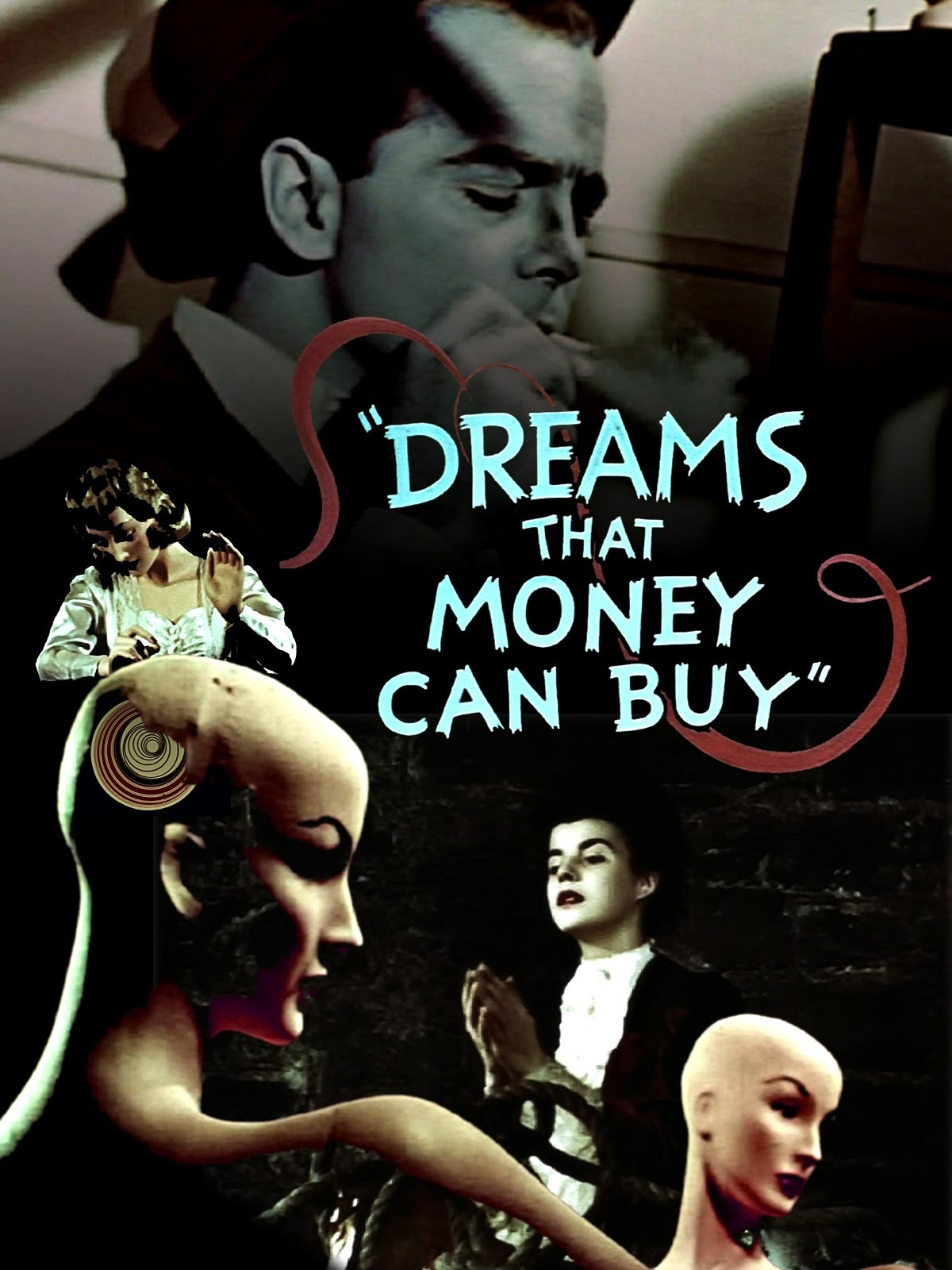 Dreams That Money Can Buy  (1947) is widely considered to be one of the first feature-length abstract art films, featuring Stanley Kubrick's second wife Ruth Sobotka in a minor role