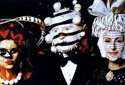 """Masked party guests at Marie-Hélène de Rothschild's """"Surrealist Ball"""" (1972)"""