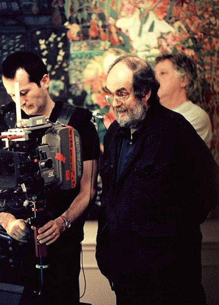 Stanley Kubrick on the 1997-98 set of  Eyes Wide Shut ; the movie holds the Guinness World Record for the longest continuous film shoot, at 400 days