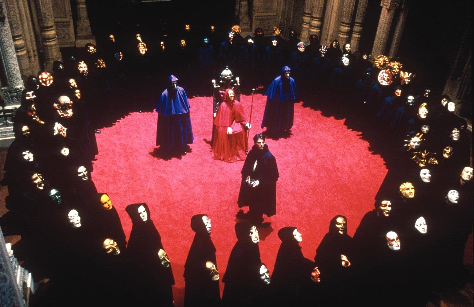 The circle ceremony in  Eyes Wide Shut  (1999)