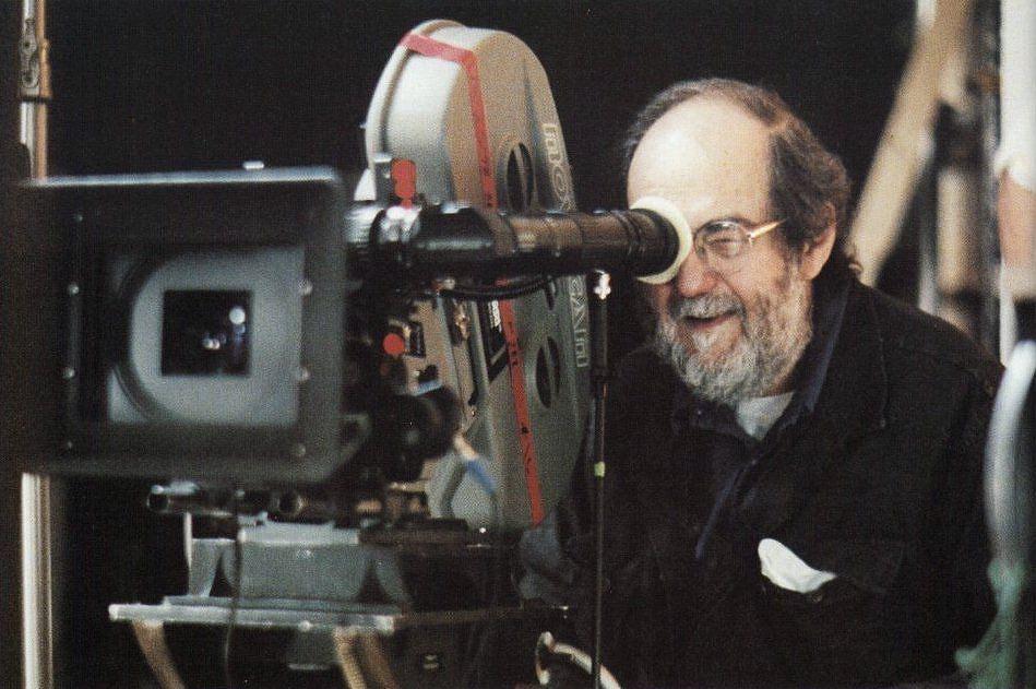 Stanley Kubrick on the set of his last movie,  Eyes Wide Shut  (1999)