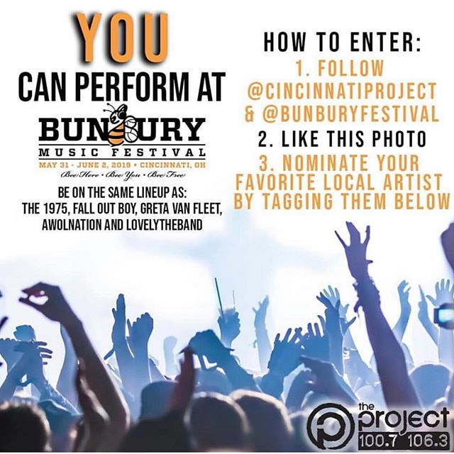 Please do us a solid and head over to @bunburyfestival and/or @cincinnatiproject #BunburySweepstakes post and tag Freak Mythology! We'd love to play Bunbury this year!🐝 Thank you!!