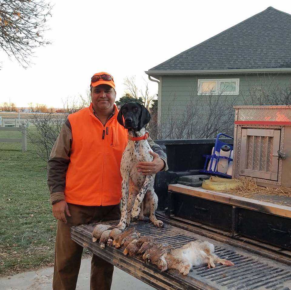 Buster with KS mixed bag
