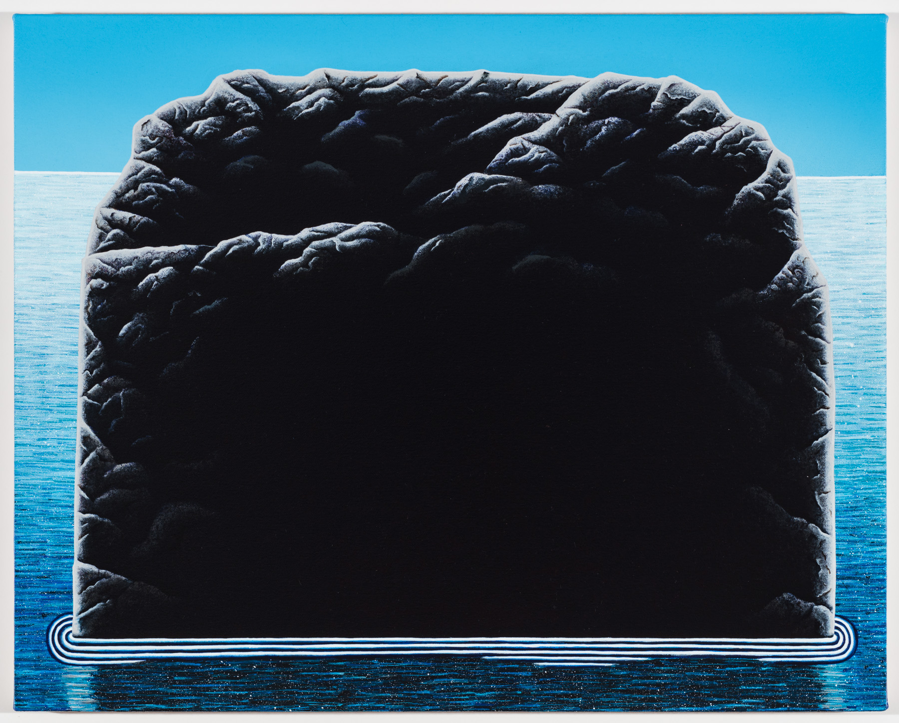 """Robber's Cape acrylic on canvas 20 x 25"""" 2016"""