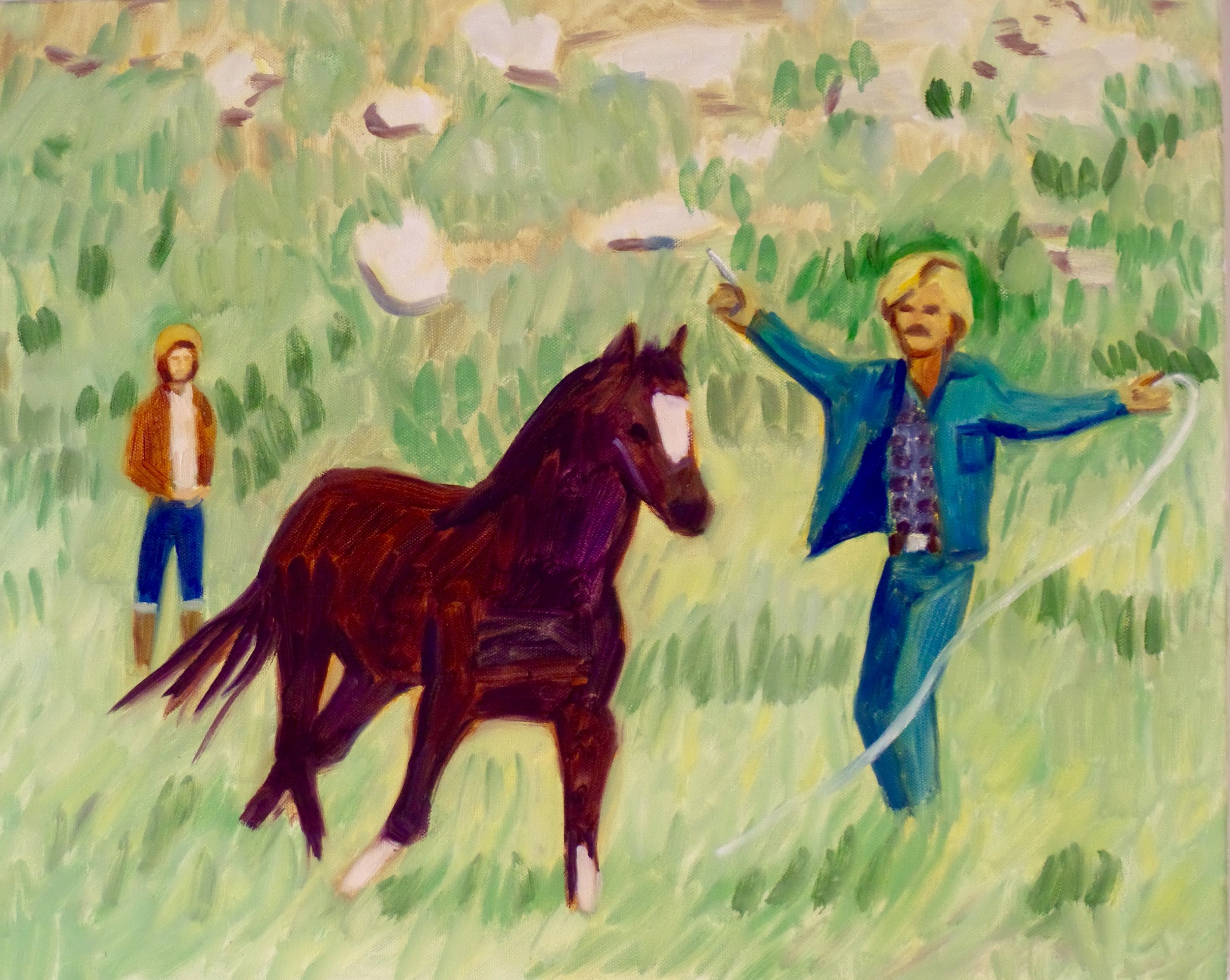"""Western Wear oil on canvas 16 x 20"""" 2016"""