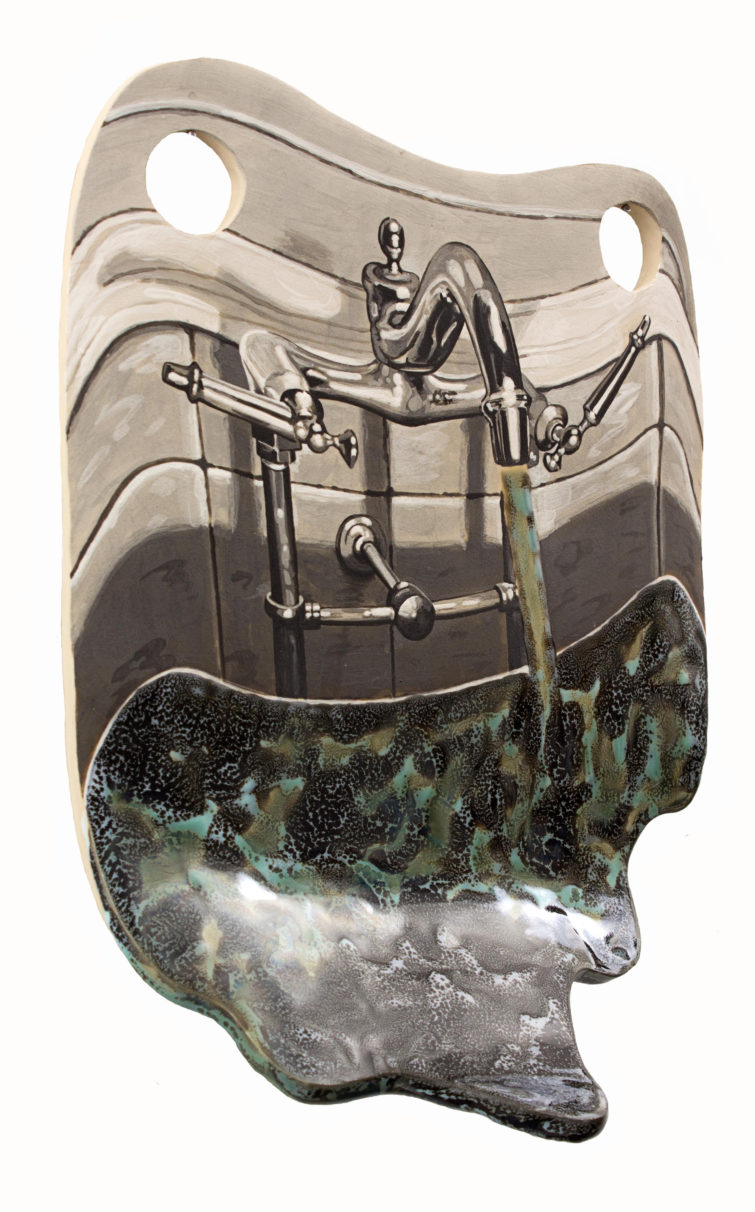 """Sink glazed ceramic 12 x 9"""" 2016"""