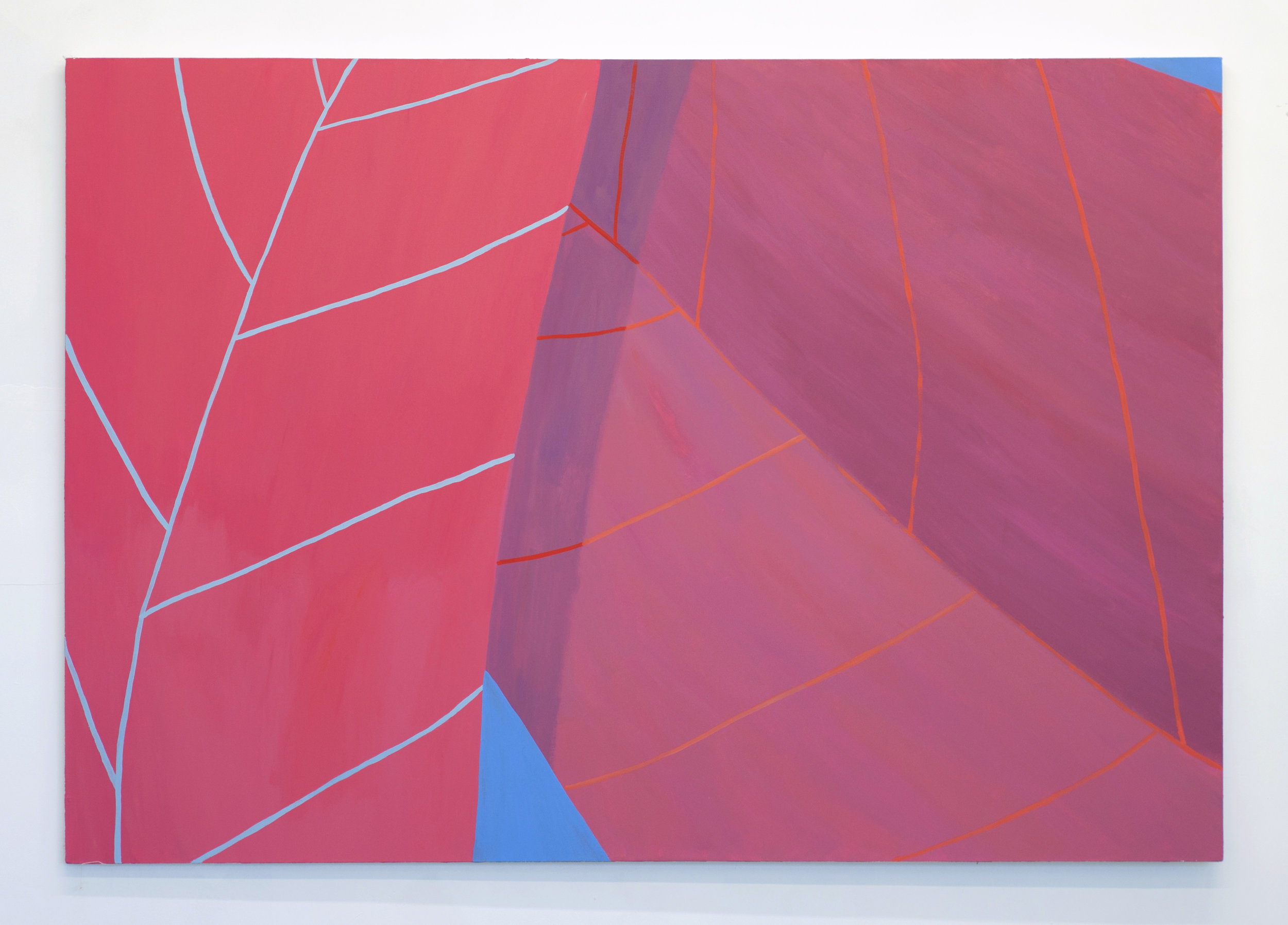 Leaves #8 2015 acrylic on canvas 50 x 72 inches, photo by Tyler Kufs