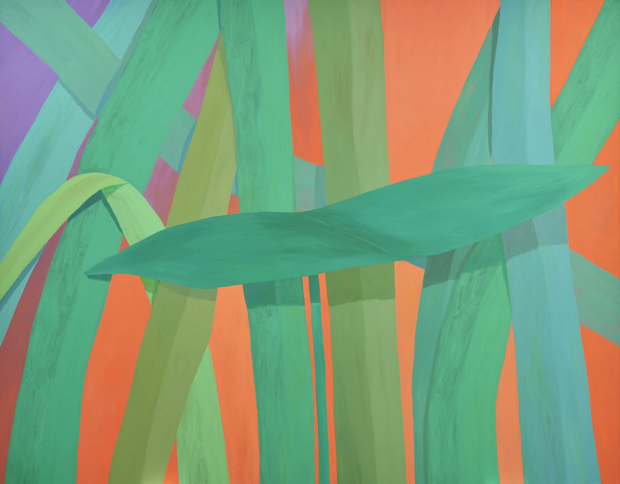 Grass #60 2016 acrylic on canvas 108x76 inches, photo by Tyler Kufs