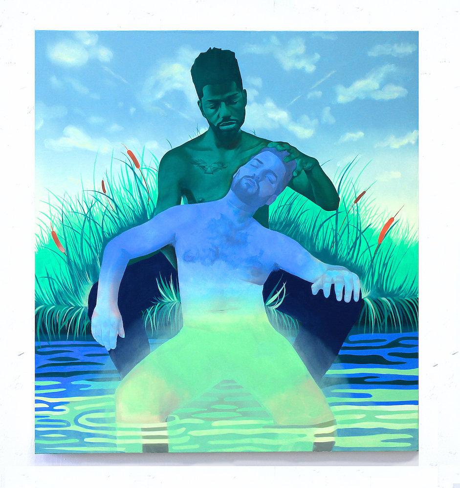 Canoe Creek oil on canvas 44 x 40 inches 2015