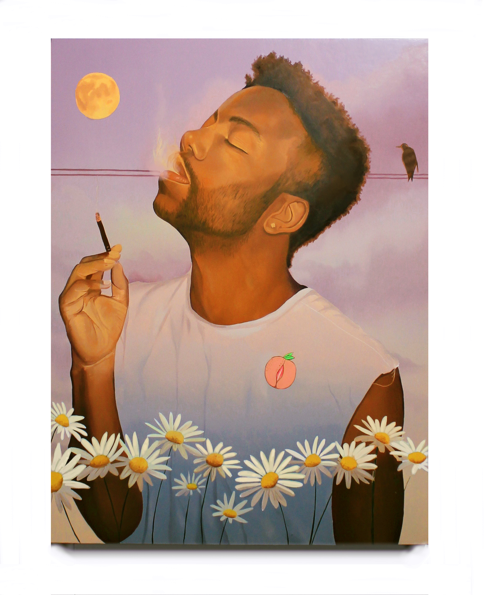 Prayin' on the Moonlight 30 x 40 inches oil on canvas on panel 2017