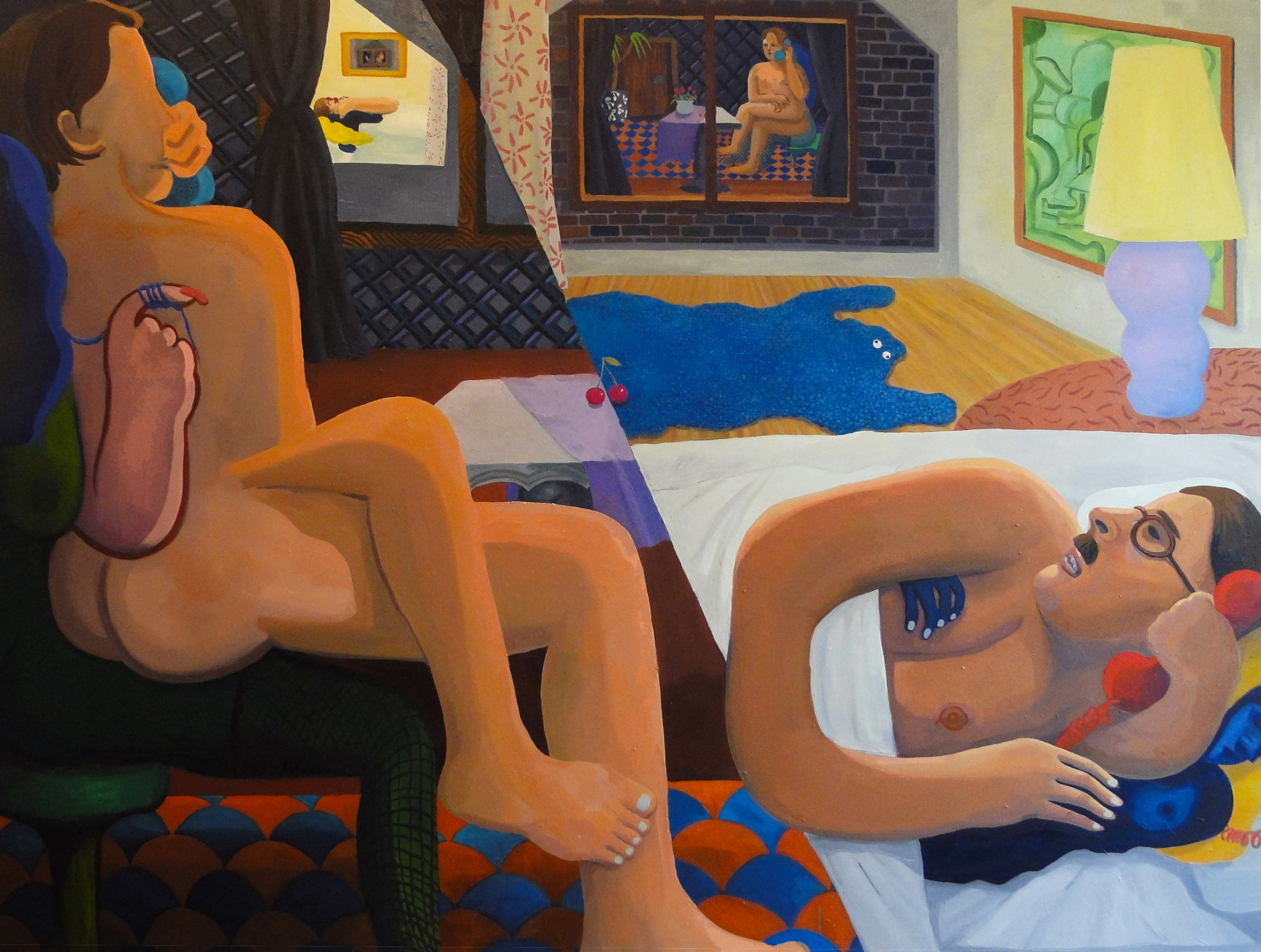 Night Talk oil on canvas 85 x 65 inches 2016