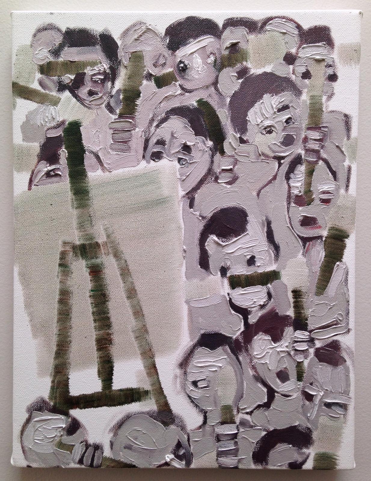 Painters deciding oil on canvas 2017