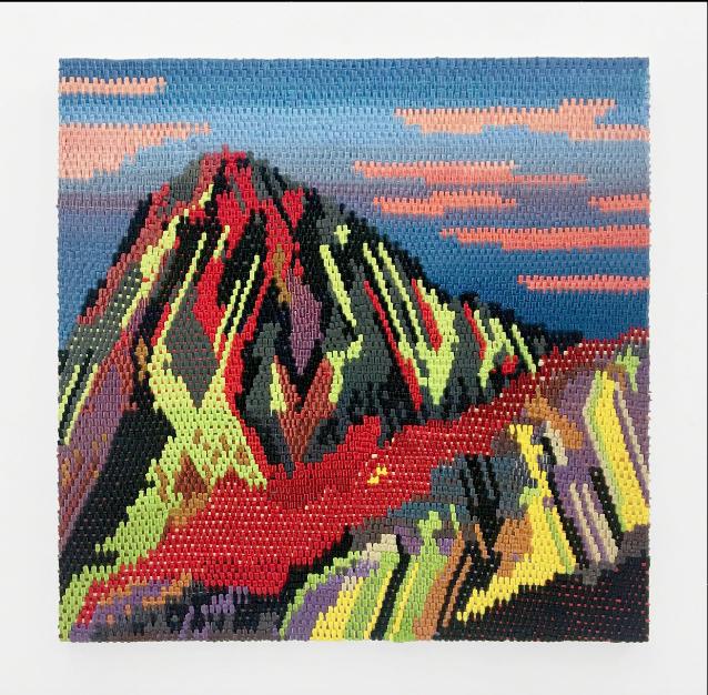 """Aspen Glow  oil on canvas  40 x 40"""" 2016"""
