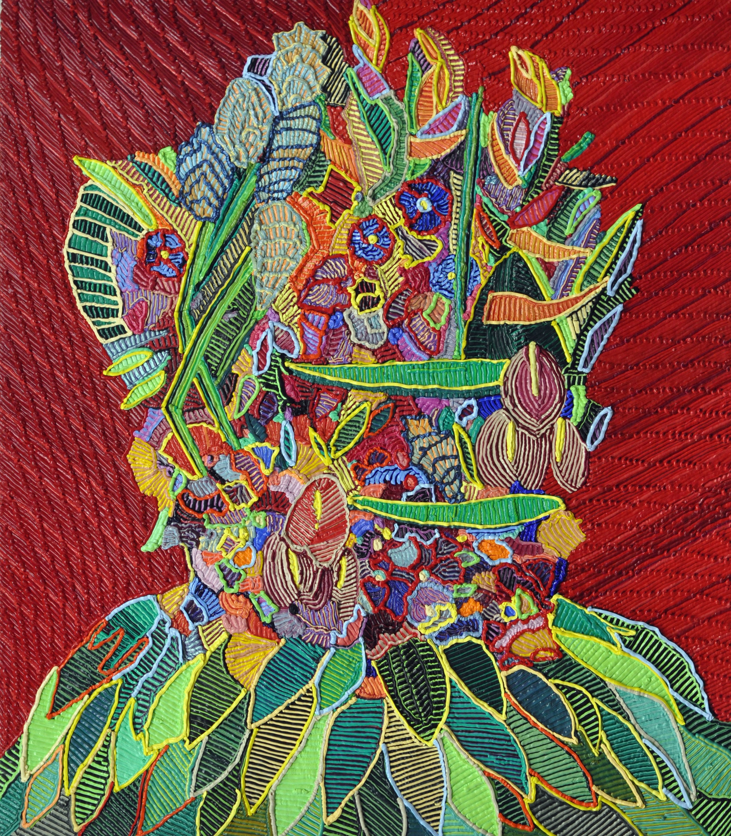 "Flora Body  oil on canvas  31 x 27"" 2017"