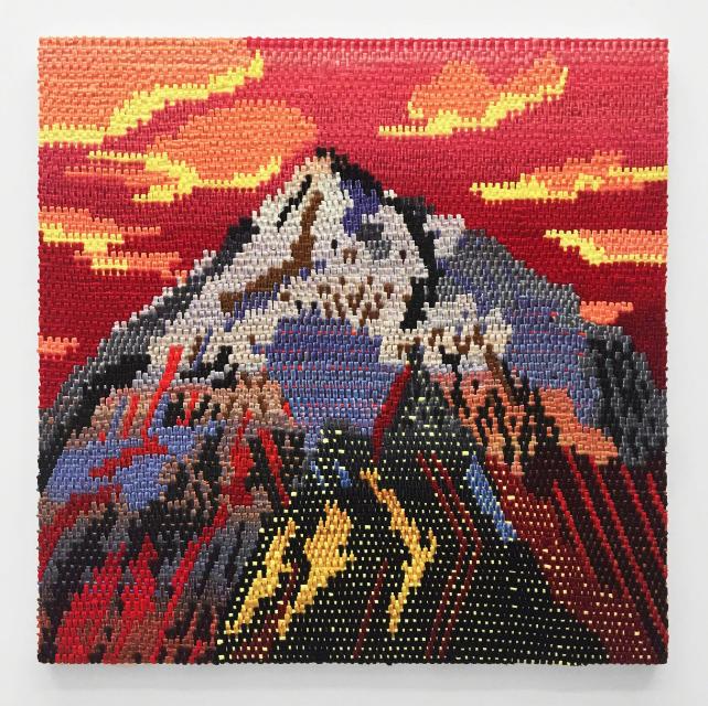 """Aspen Sunset  oil on canvas  40 x 40"""" 2016"""