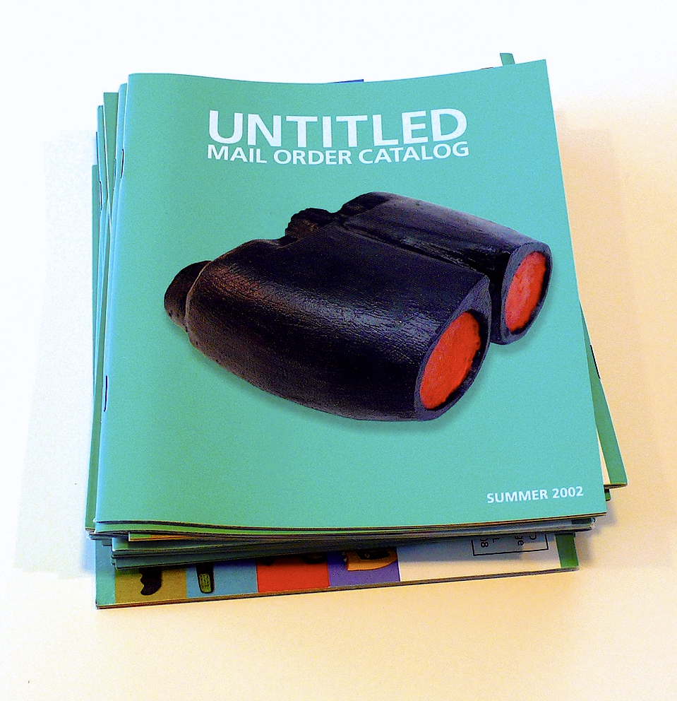 Untitled Project, Untitled Mail Order Catalog, oil paint on carved wood, printed catalog, 2002.jpg