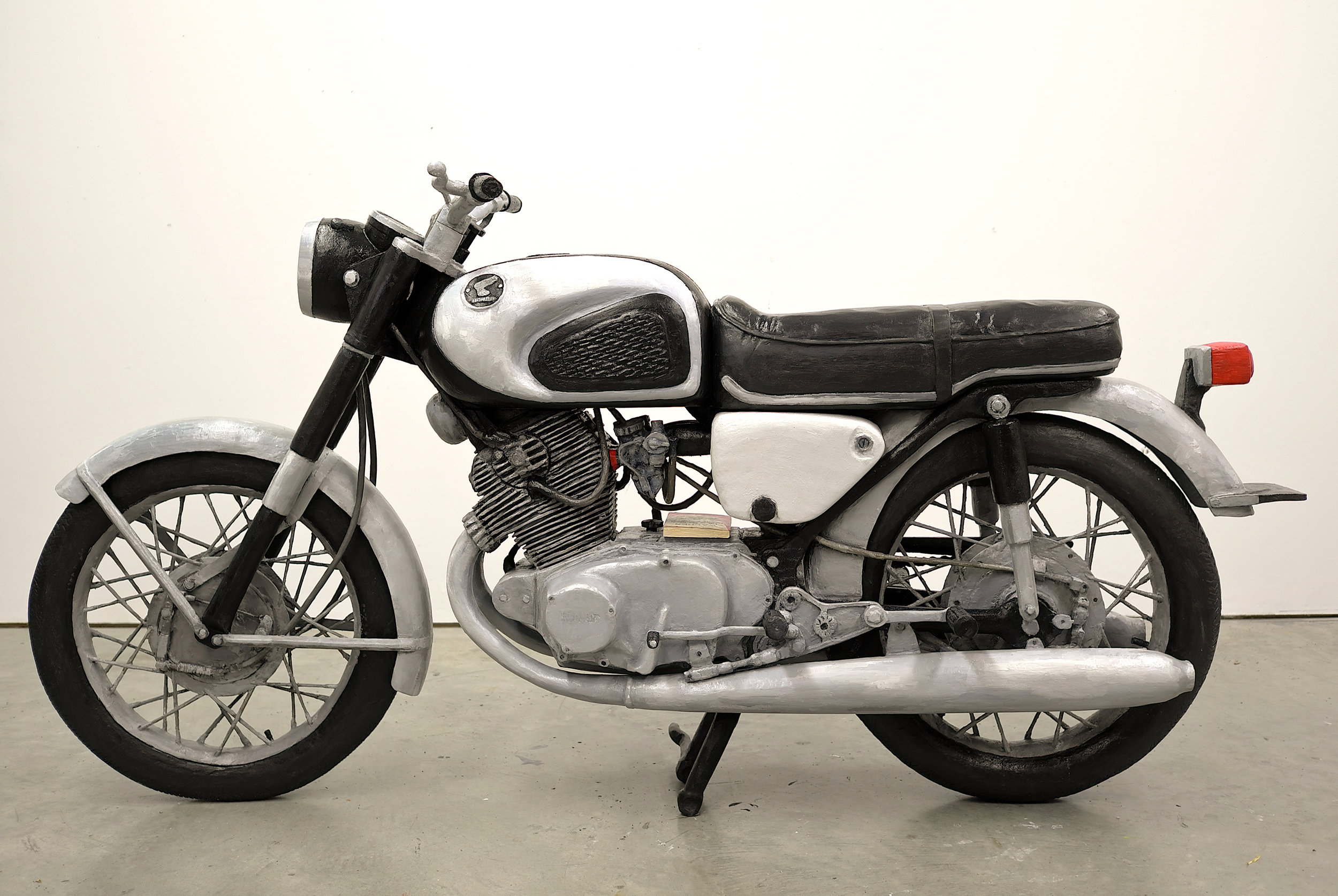 Untitled Project: Honda CB77 Super Hawk  Oil Paint on carved wood, 1:1 scale 2013-2014