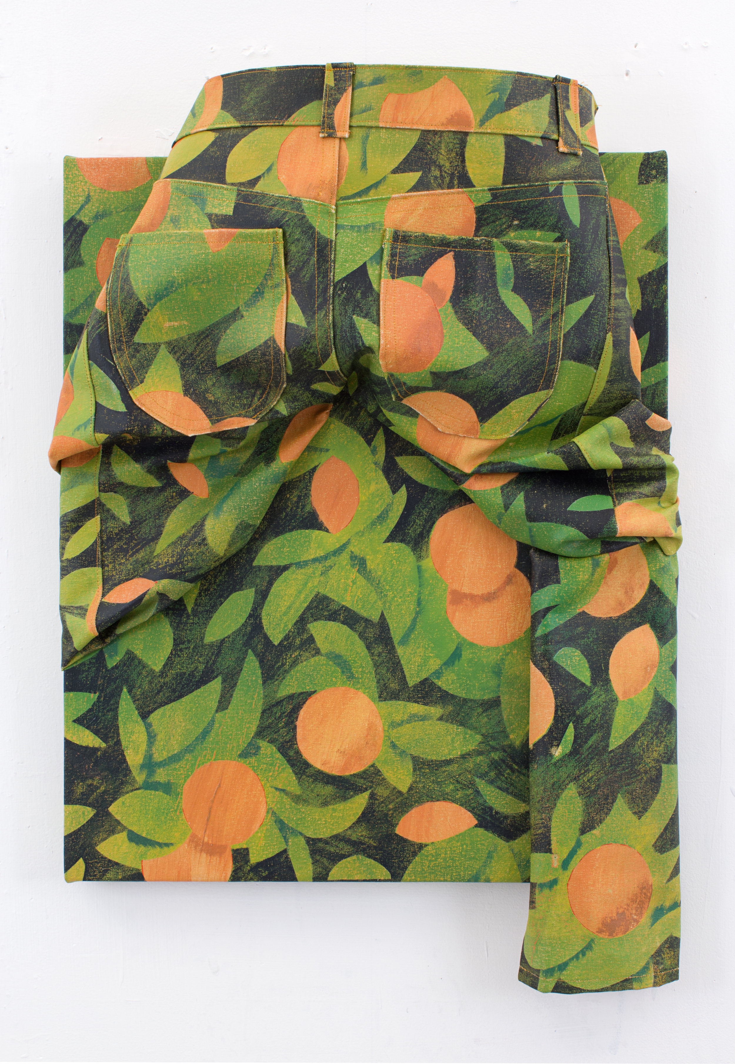 Back to Oranges acrylic on canvas 29.5 x 20 x 5 inches 2016