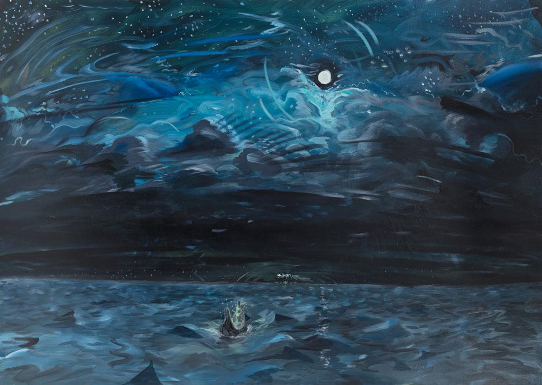 Mistwraith oil on canvas 84 x 60 inches 2016