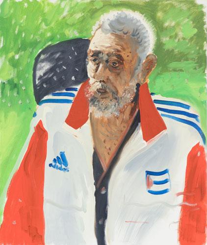 Castro oil on canvas 20 x 24 inches 2016