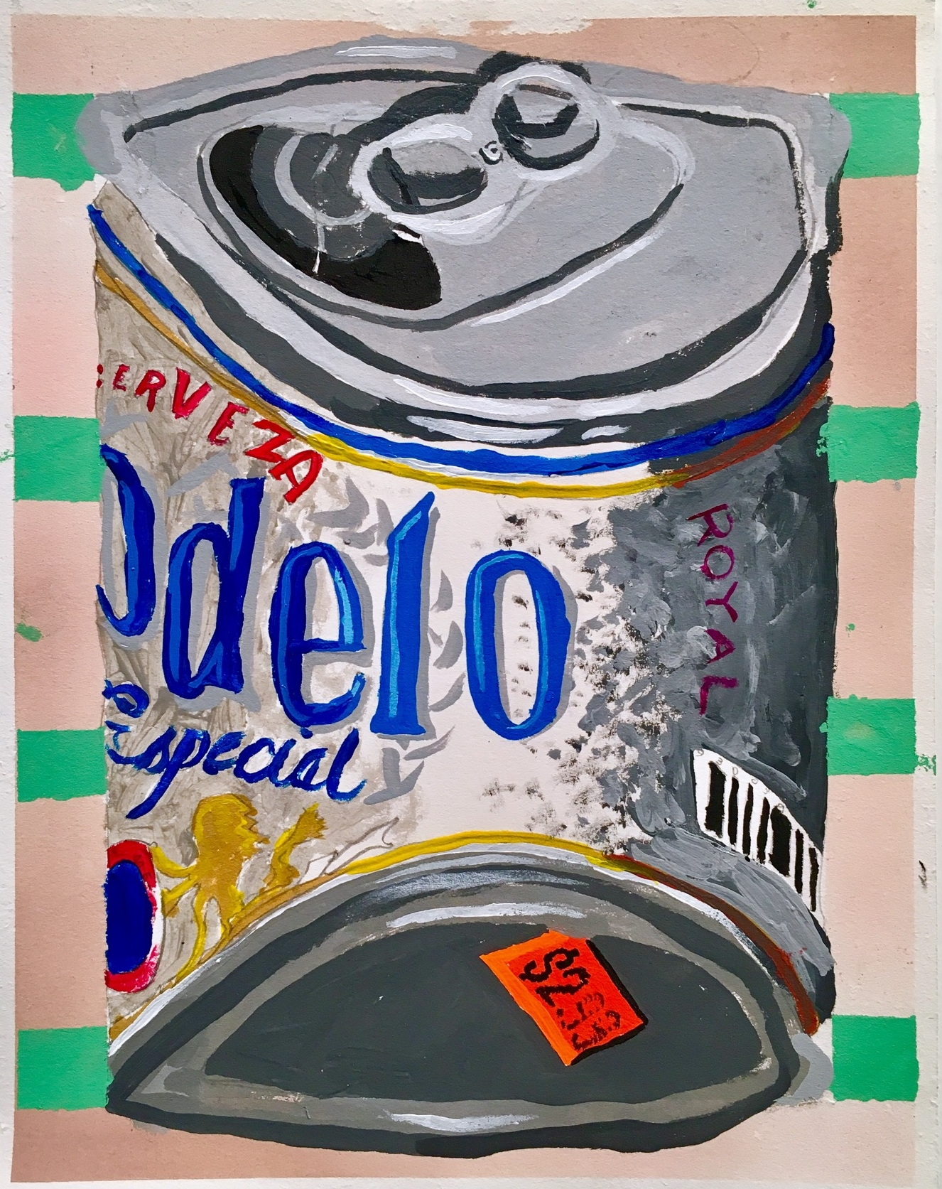 Delo acrylic on paper 11 x 8.5 inches 2017