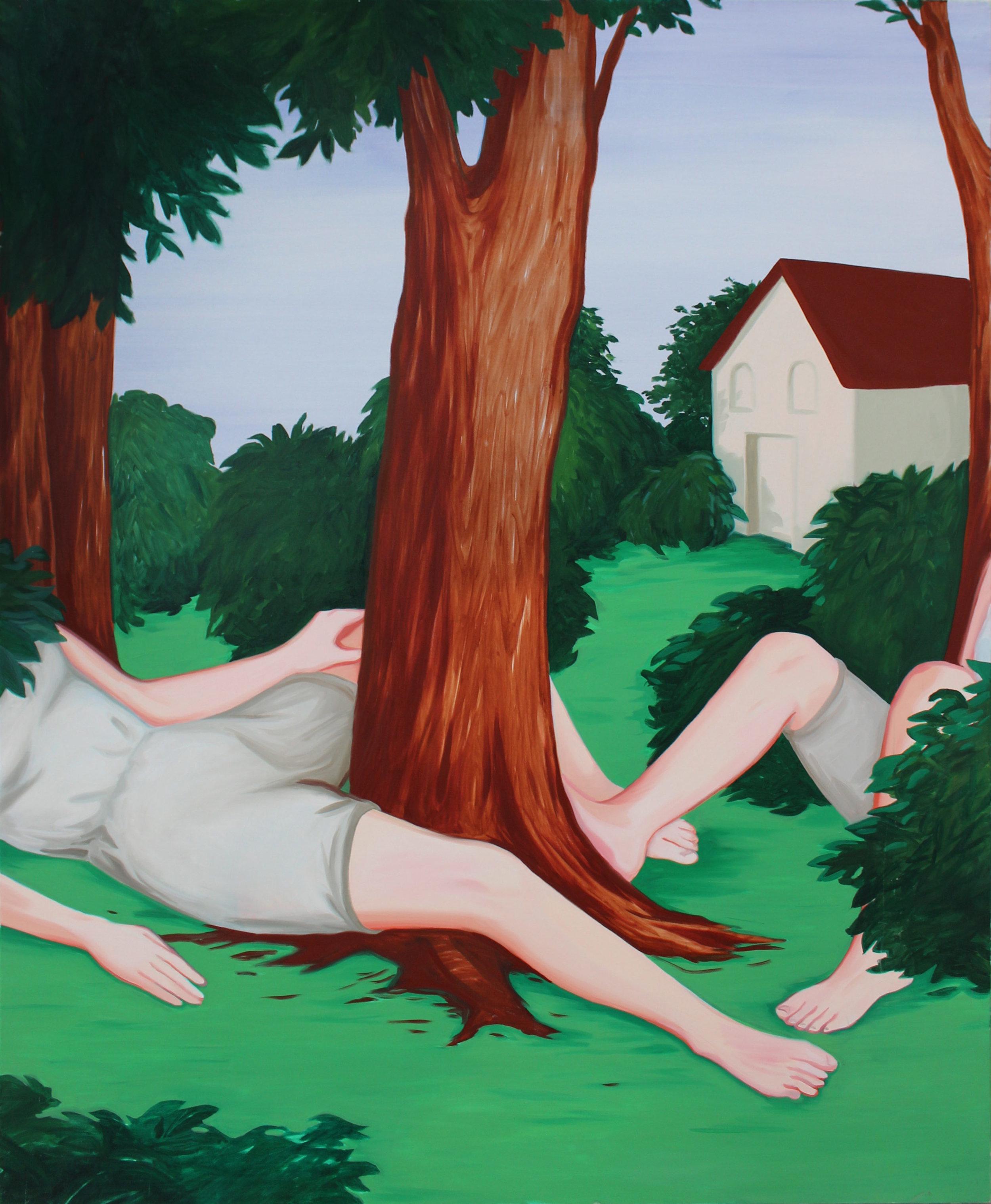 coté jardin  Oil on canvas 160 x 130 cm 2017