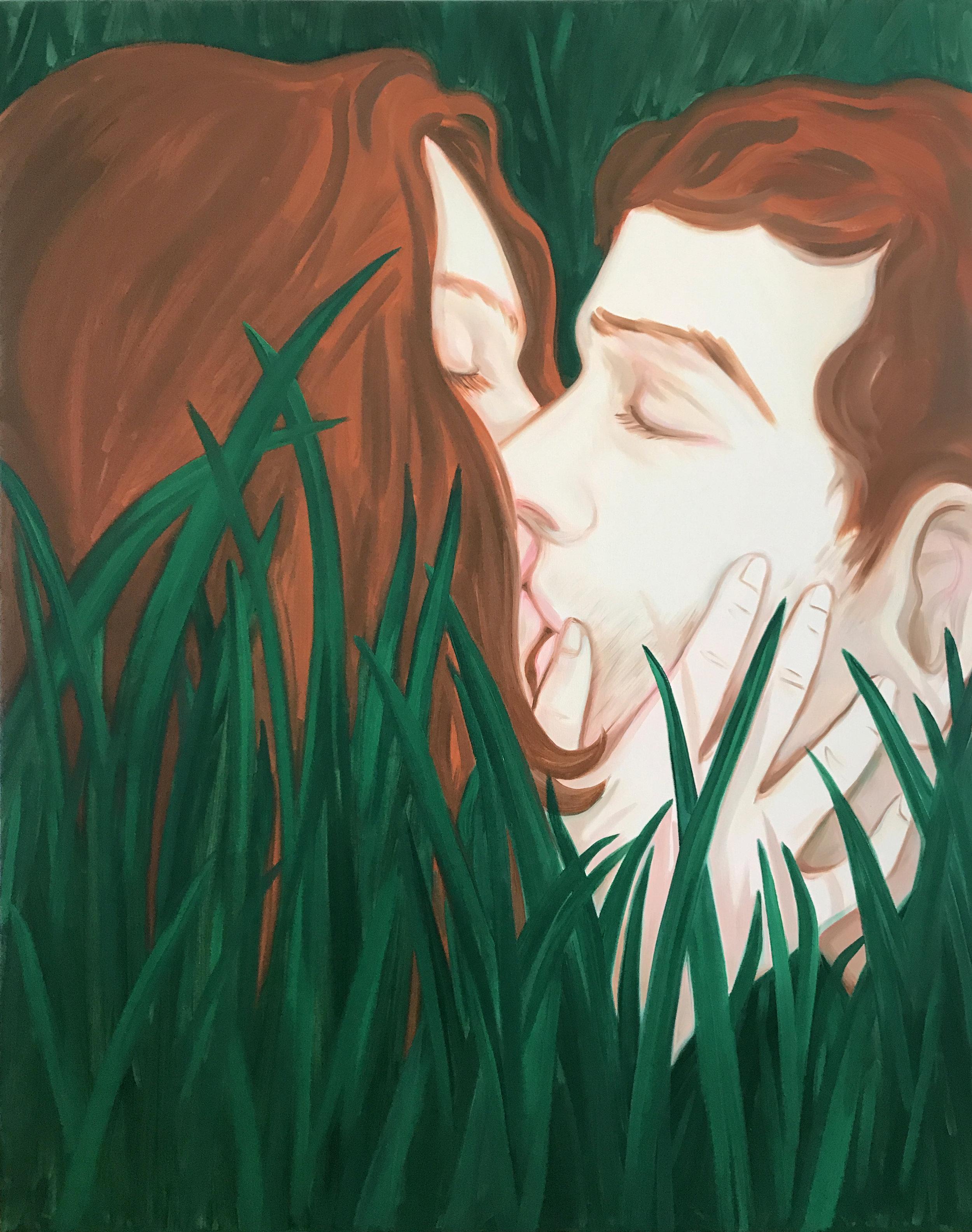 Les grands amants II Oil on canvas 145 x 115 cm 2017