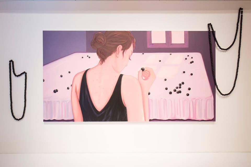 Perles Oil on canvas 100 x 190 cm 2017