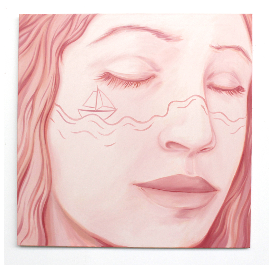 Portrait-Mer Oil on canvas 120 x 120 cm 2018