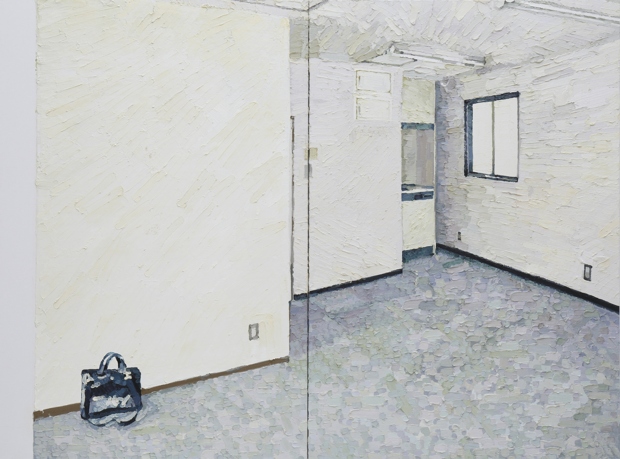 Corner # 02 oil on cotton 194 x 260.6 cm 2012 photo by Keizo Kioku