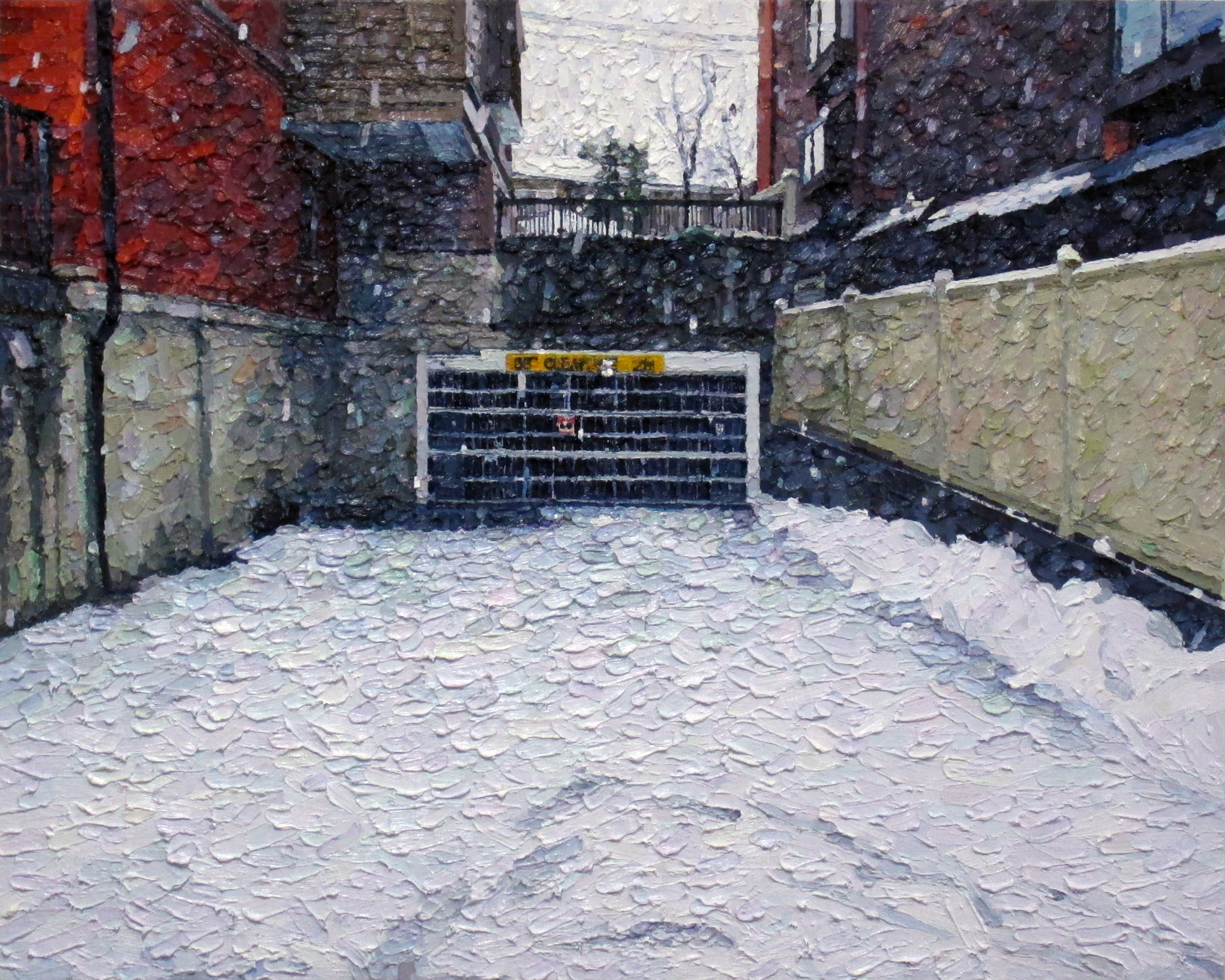 Snowfall oil on canvas 72.7 x 91 cm 2014