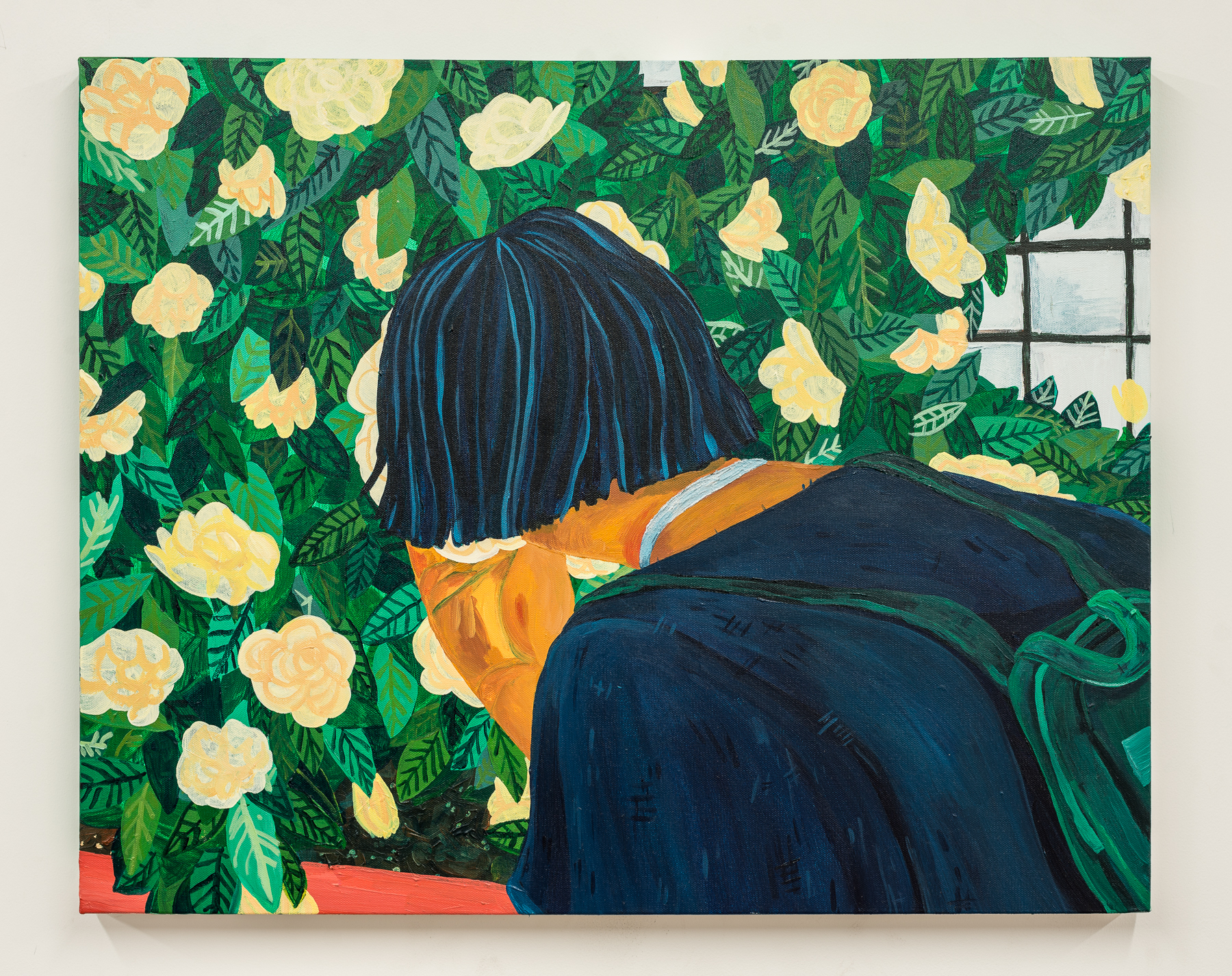 Ellen At The Conservatory Acrylic on canvas 26 x 28 inches 2017