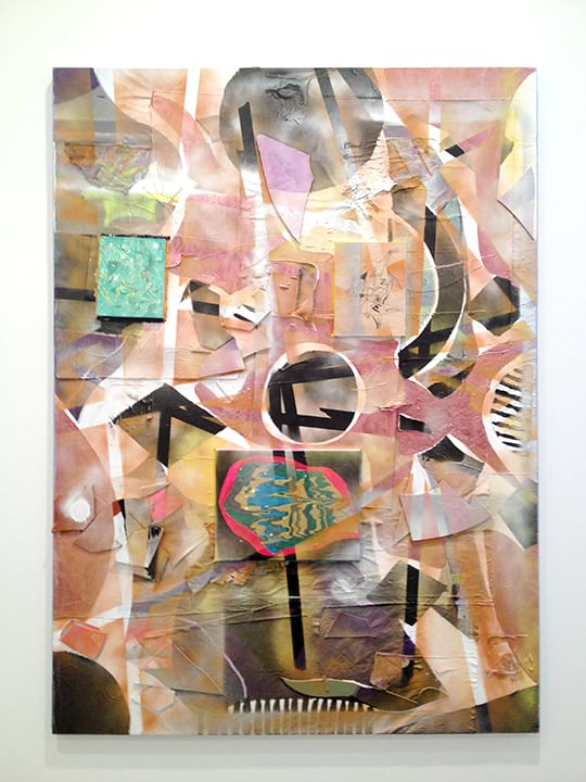 Boomtown (A Long Road Home) Mixed media on canvas 84 x 60 inches 2012