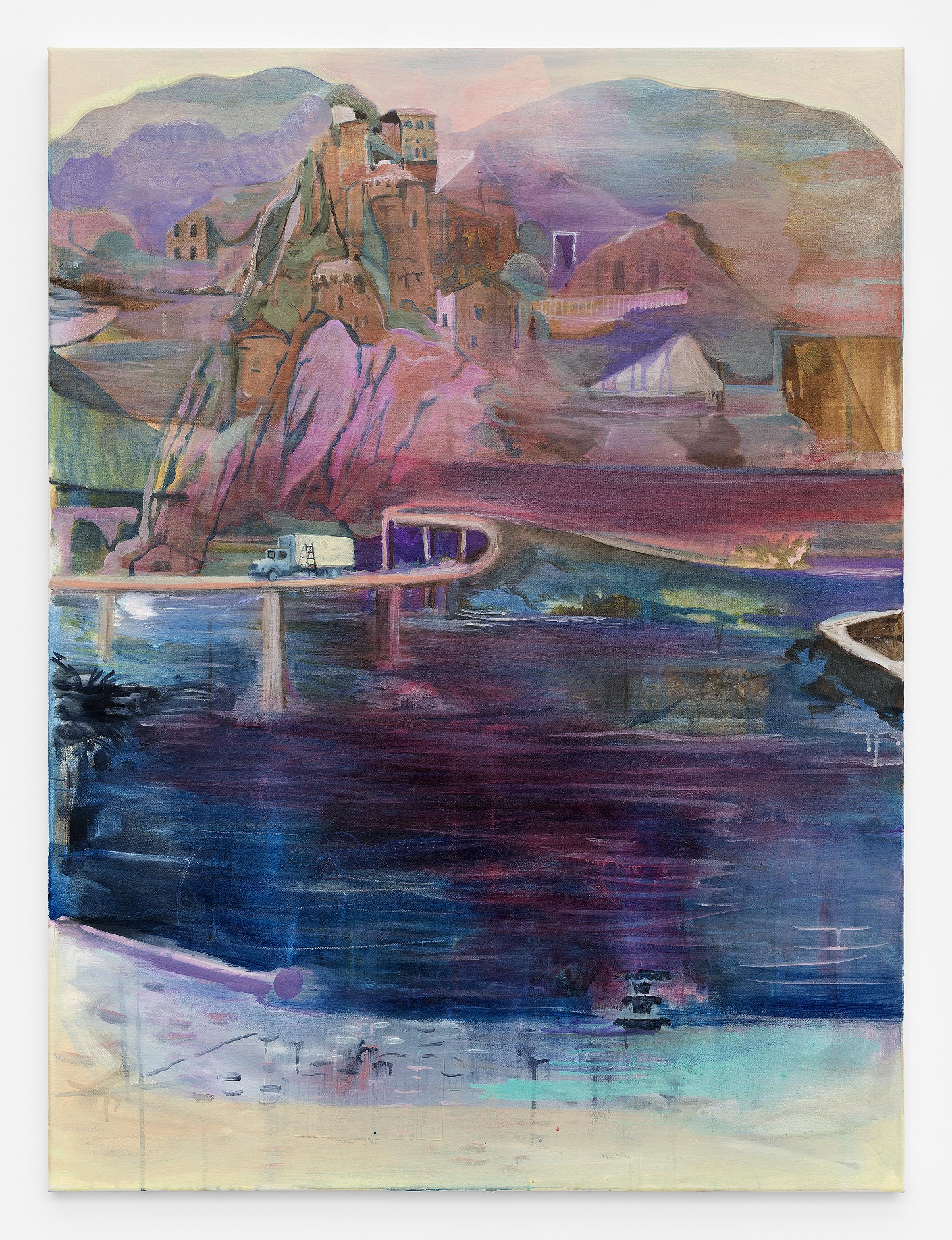 Break acrylic and oil on canvas, 121 x 90 cm 2017