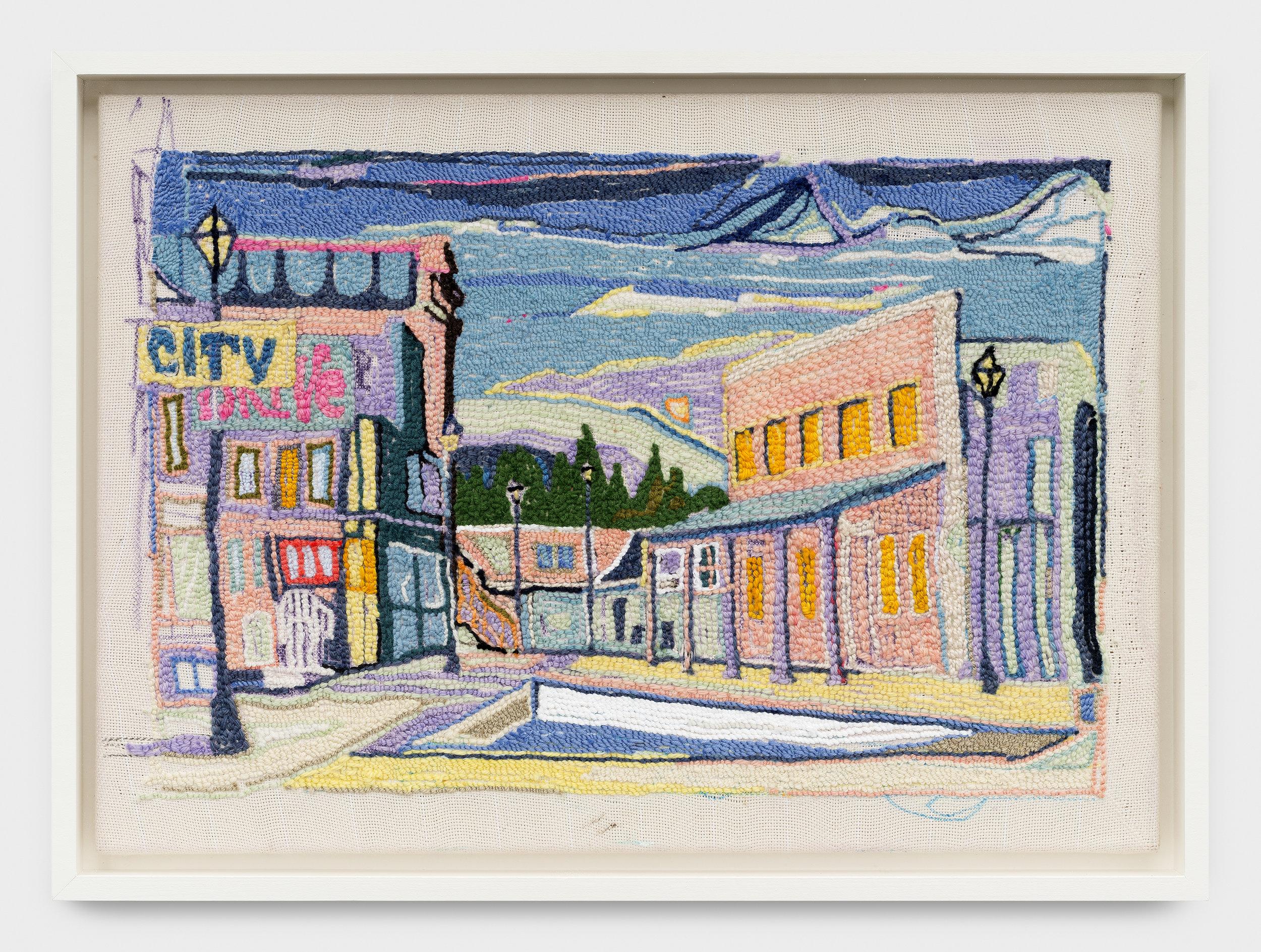 City Drive  gobelin, 50.5 x 70.5 cm 2017
