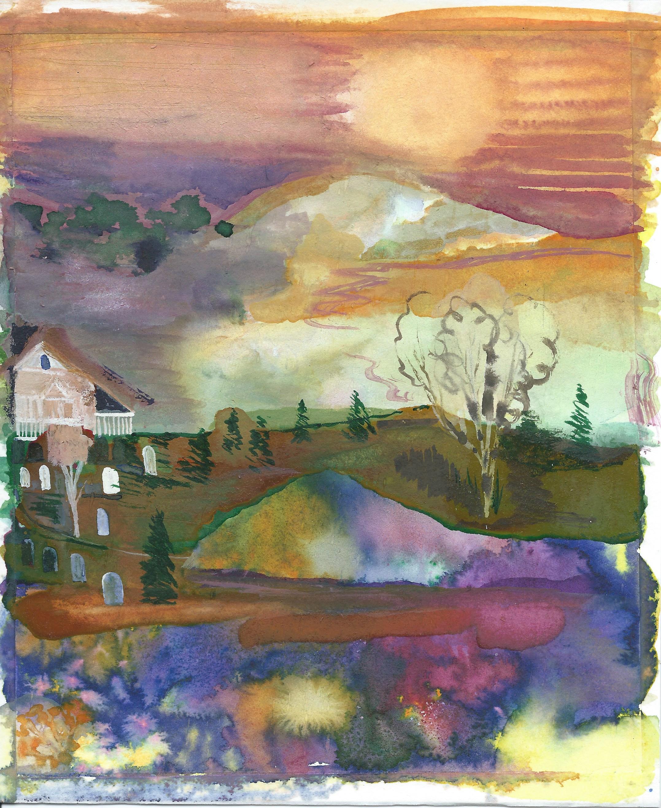 Memory Lane watercolor on paper, 22 x 18.5 cm 2017
