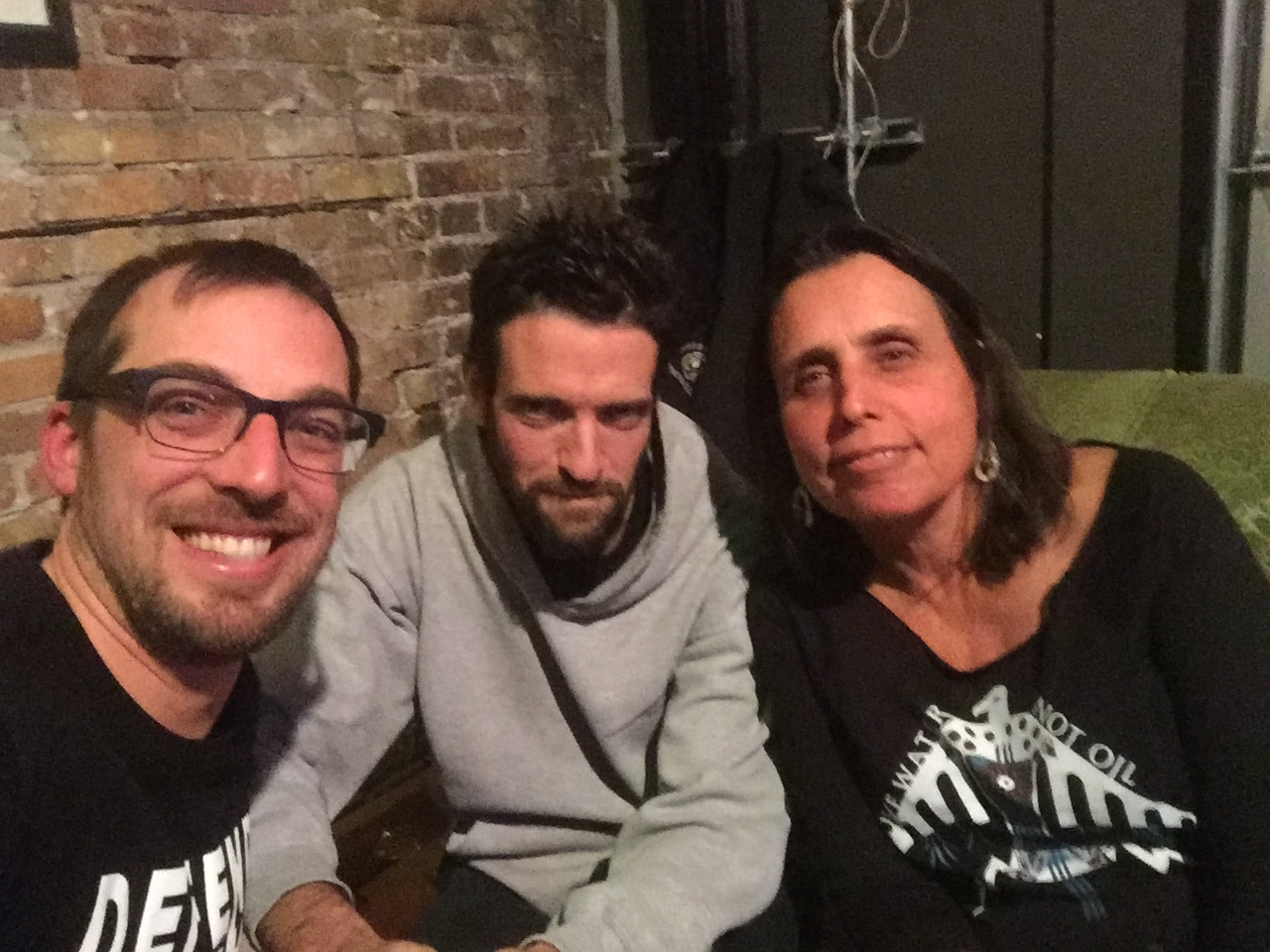 John Doberstein, Allen Richardson and Winona LaDuke