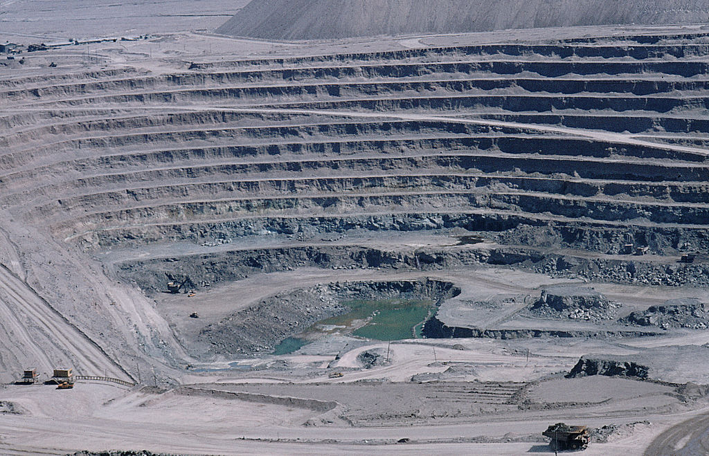 Chuquicamata in Chile is one of the world's largest open pit copper mines.