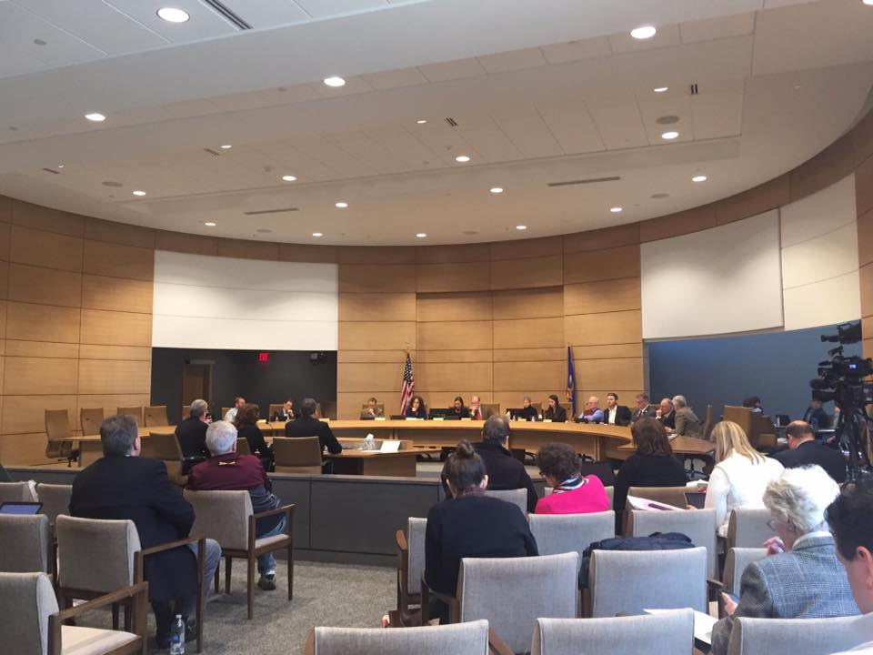 John Doberstein testifying on behalf of Duluth for Clean water at the MN Senate Judiciary and Public Safety Committee. We're saying NO to the cynical effort to remove the ability of downstream communities to request a contested case hearing on mining permit apps.