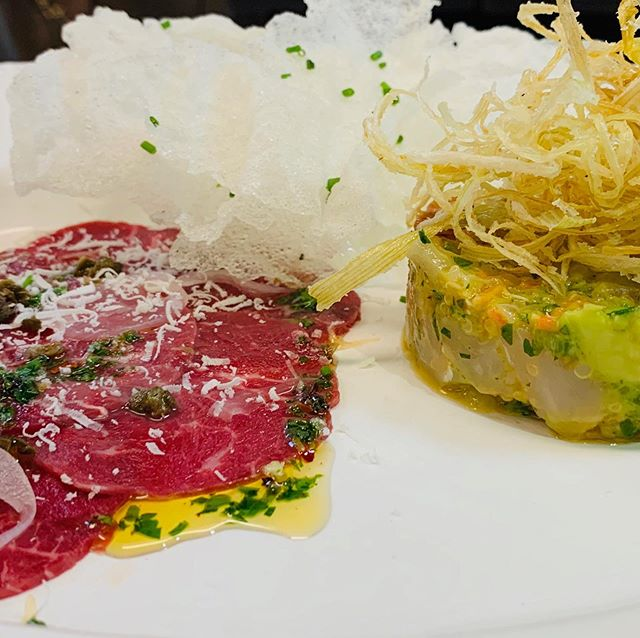 Looking for a culinary experience?! Ask for our chef's tasting, and let our chef create custom dinners to blow you away! 🍴🍷 Filet Carpaccio | Grouper Tartare  #chefstable #cheftasting #cuveekitchen