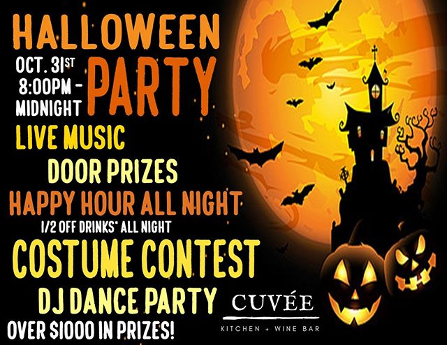 Join us for a Monster Mash like no other, with live music, DJ after 9pm, ADULT COSTUME CONTEST, Scary Good Drink Specials and MORE....