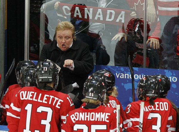 Coach Melody Davidson of the 2010 Canadian Gold Medal Hockey Team