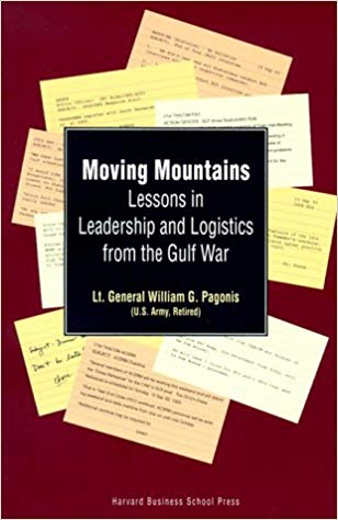 - Good book that details General Pagonis's leadership lessons and sustainment/logistics lessons from the onset of Desert Shield, through Desert Storm, and into the redeployment operations of Desert Farewell. Some highlights:-Observations that we were lucky to fight an adversary with no navy or real air force to contend with, hence movement into theater was uncontested-Trust the TPFDD; what you think you need right now, may not be what you need a week or a month from now, maintain a wide perspective and protect future operations-The army needs more HETs and Material Handling Equipment, (we still do), we can't always rely on the ability to contract for them in theater-Armies Eat and Armies Drive-Don't gloss over the value of MWR-Don't gloss over the value of medals, coins, and other awards...the military doesn't offer instant promotions, changes in title, or cash bonuses...use the tools that you have-Treasure disagreements, and resolve them
